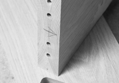 incastro, legno, spine montaggio, © luigi tremolada